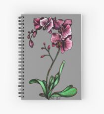 Orchids Watercolor Painting Spiral Notebook