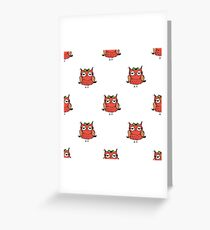 doodle owl pattern background,hand drawing  Greeting Card