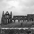 Storm Over Whitby Abbey by Lesliebc