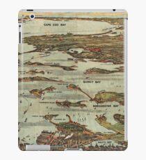 Boston Harbor Birdseye-view map iPad Case/Skin