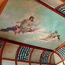 Gorgeous Muse Painted Ceiling Mural, Music Room, Edison House, West Orange NJ by Jane Neill-Hancock