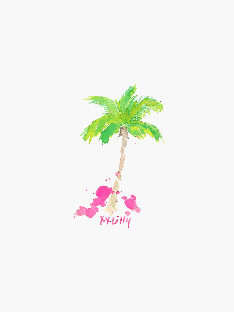 palm tree lilly pulitzer by sarahvillella