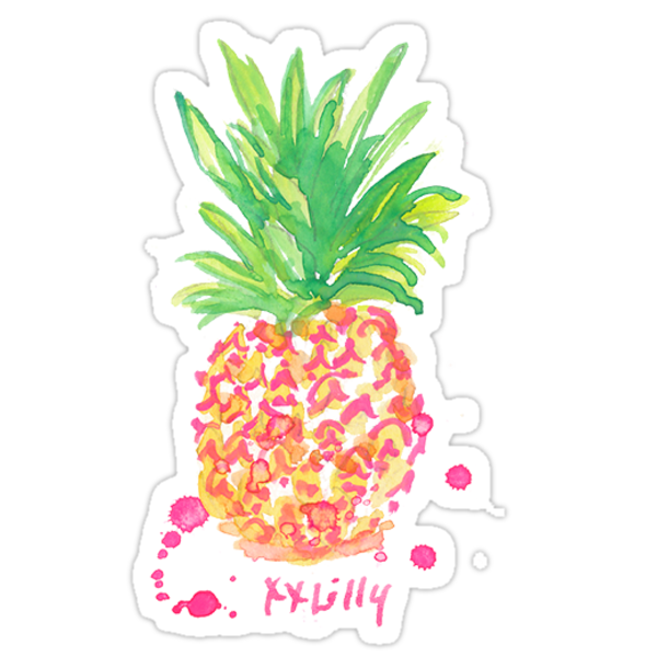 Quot Pineapple Lilly Pulitzer Quot Stickers By Sarahvillella