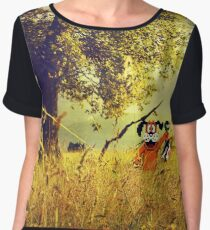 Nintendo Duck Hunt (no HUD) retro pixel art Women's Chiffon Top