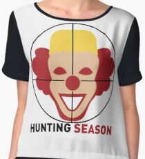 Clown Hunting Season Chiffon Top