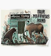 DMB Tour 2016, ALPINE VALLEY MUSIC THEATRE ELKHORN WI Poster