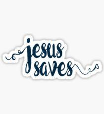 Jesus Saves - Prayer Journals and Mugs Sticker