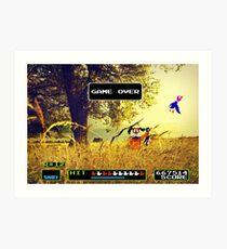 Duck Hunt pixel art Art Print