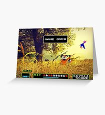Duck Hunt pixel art Greeting Card