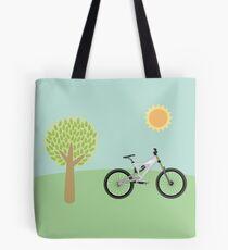 Downhill mountainbike Tote Bag