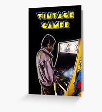 Vintage Gamer 80's Greeting Card