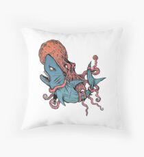 Grappling / BJJ - Kraken x Jaws Throw Pillow