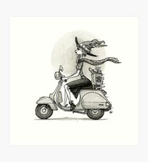 Broom Broom! Art Print
