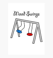 Funny Mood Swings Cartoon Photographic Print