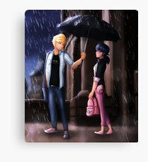 Miraculous Ladybug: The Umbrella Scene Canvas Print