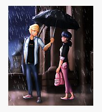 Miraculous Ladybug: The Umbrella Scene Photographic Print