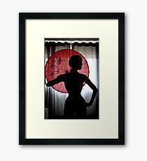 Elegant silhouette Framed Print