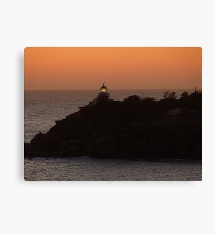 Coming into Sydney just before sunrise Canvas Print