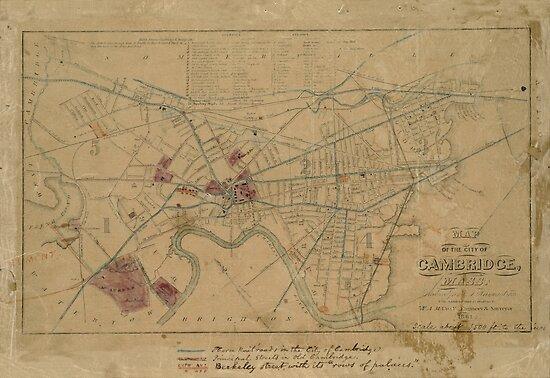 Map of Cambridge 1861 by mollyfare