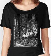 Sitting by the Road in the Rain and Witnessing the Tepid  Darkness Women's Relaxed Fit T-Shirt