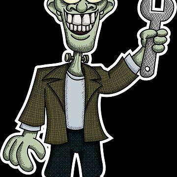 Frankenstein with Wrench by Wislander
