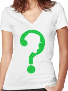 The Riddler ? Women's Fitted V-Neck T-Shirt