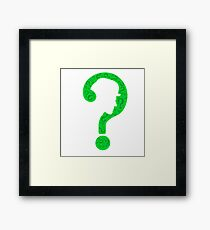 The Riddler ? Framed Print