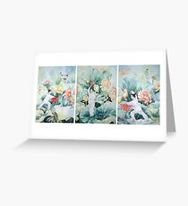 Harmony - Chinese Fan Dancers Greeting Card