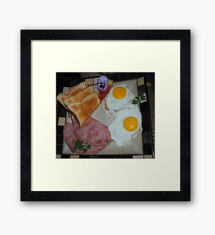 Breakfast Is Served! Framed Print