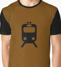 Brown Line CTA Inspired Elevated Train Print Graphic T-Shirt