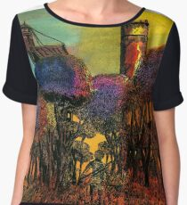 Wandering Into The Wilderness Of The Setting Sun Chiffon Top