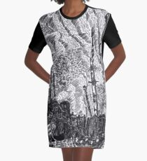 Gull and Sky Graphic T-Shirt Dress
