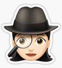 Emoji Detective (White/Asian Female) Sticker
