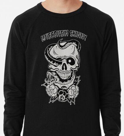 Wisconsin Skinny Snake Skull Lightweight Sweatshirt