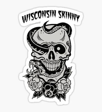 Wisconsin Skinny Snake Skull Sticker