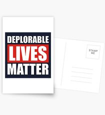 Deplorable Lives Matter Postcards
