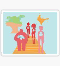Gorillaz History Silhouette Sticker