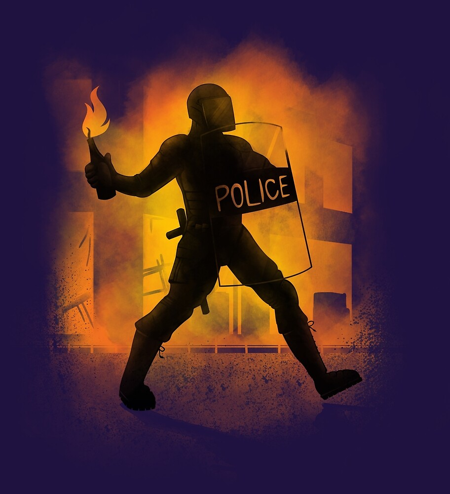 Riot Cops by Jonah Block
