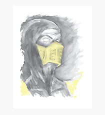 Mortal Kombat Scorpion Photographic Print