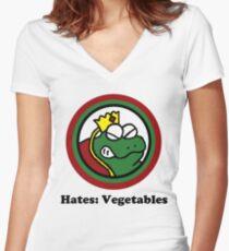 Hates: Vegetables Women's Fitted V-Neck T-Shirt