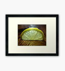 Lemon Slice Framed Print
