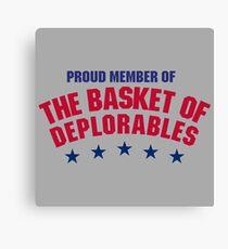 The Basket of Deplorables Canvas Print