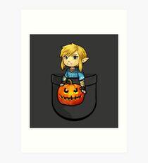 The Legend of Zelda Link Halloween Pumpkin Art Print