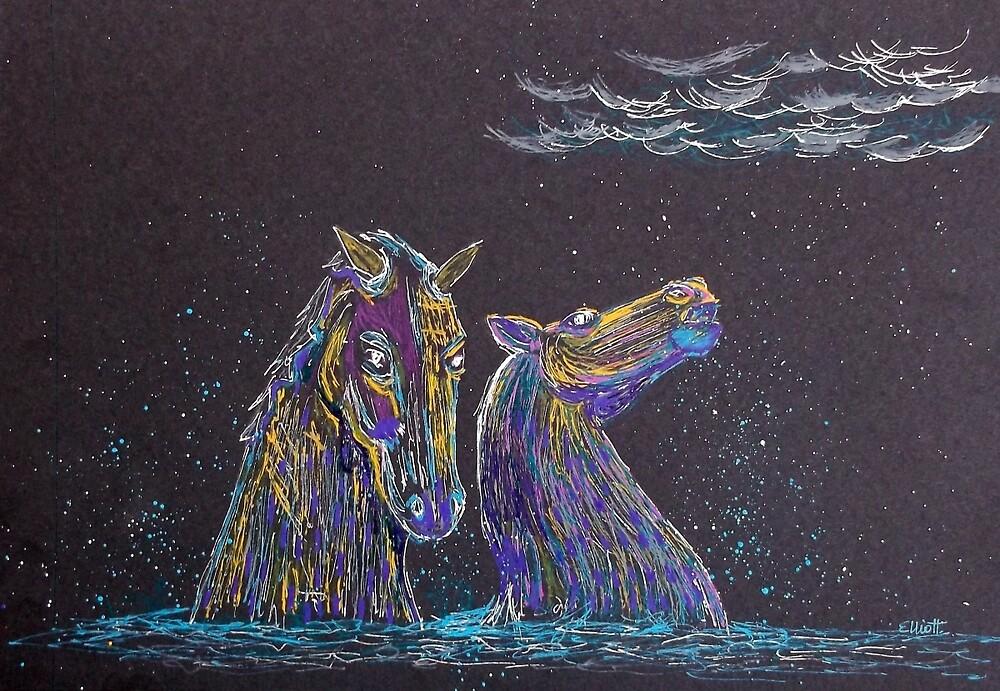 The Kelpies by Pat  Elliott