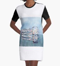 Fire and Ice Graphic T-Shirt Dress