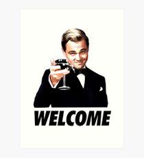 Der große Gatsby Leonardo Di Caprio Kunstdruck