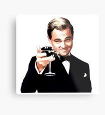 Der große Gatsby Leonardo Di Caprio Metallbild