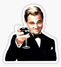 The Great Gatsby Leonardo Di Caprio Sticker