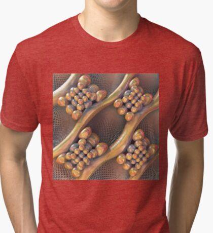 Golden #Fractal Tri-blend T-Shirt