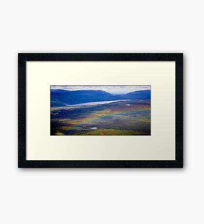 Rainbow Over Denali Framed Print
